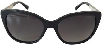 Chanel Navy Plastic Sunglasses