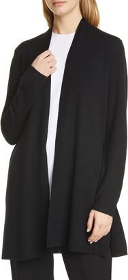Eileen Fisher Merino Straight Long Cardigan