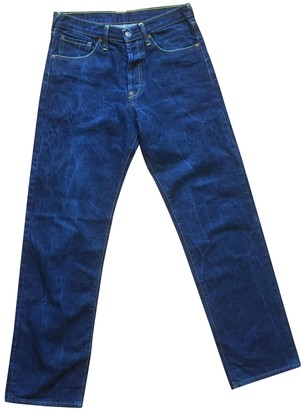 Evisu Blue Cotton Jeans for Women Vintage