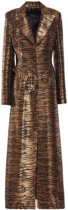 De La Vali Zebra-print Metallic Jacquard Coat
