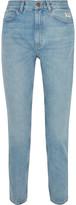MiH Jeans Mimi Distressed High-rise Slim-leg Jeans - Light denim