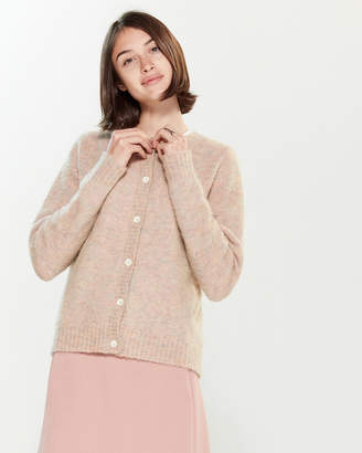 Roberto Collina Marled Long Sleeve Cardigan