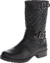 AK Anne Klein Women's Callforth Leather Equestrian Boot