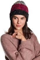 Natasha Accessories Speckled Cuff Faux Fur Lined Beanie