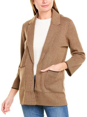 J.Crew Sophie Chevron Wool-Blend Sweater
