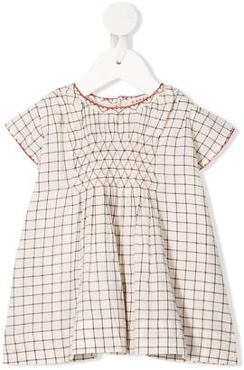 Caramel Clapham grid-print dress