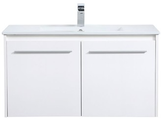 """Pottery Barn Luc 24-36"""" Single Sink Floating Vanity with Doors"""
