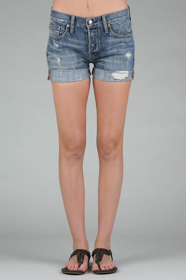 Rivieras Work Custom Jeans Beatnik Short in Medium Riviera