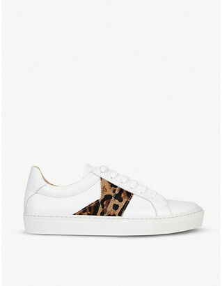 LK Bennett Alivia leopard-print leather trainers