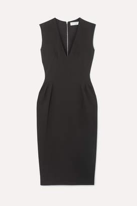 Victoria Beckham Crepe Midi Dress - Black