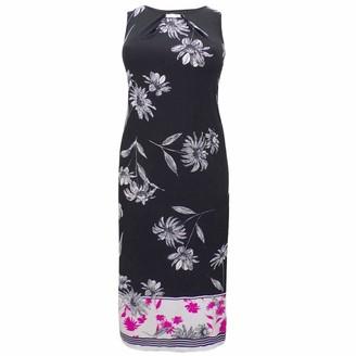 Ex Evans Black Floral Printed Summer Stretchy Shift Maxi Dress Size 14 16 18 20 (UK 18)