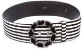 Chanel Velvet Striped Belt