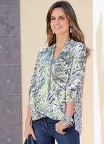 Together Print Wrap Front Blouse