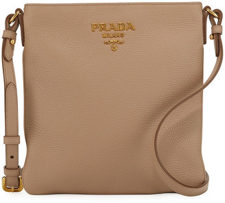 Prada Daino Crossbody Bag w/ Removable Web & Leather Straps