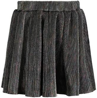Andy & Evan Iridescent Purple Pleated Skirt (Toddler Girls)