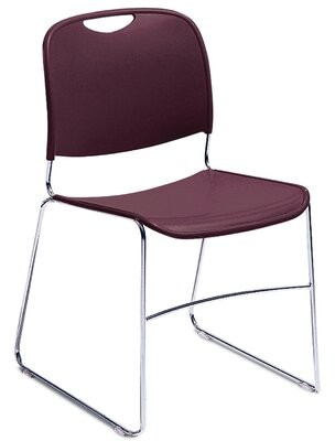Armless Hi Tech Ultra Compact Stackable Chair National Public Seating Seat Finish: Wine