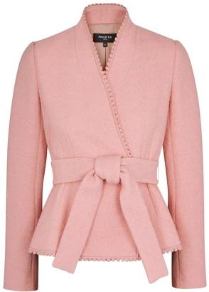 Paule Ka Rose Belted Boucle-knit Jacket