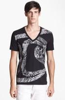 Just Cavalli Men's 'Python' V-Neck T-Shirt