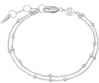 Missoma Silver Double Chain Bracelet