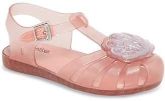 Mini Melissa Aranha XII Glitter Mary Jane Flat (Toddler)