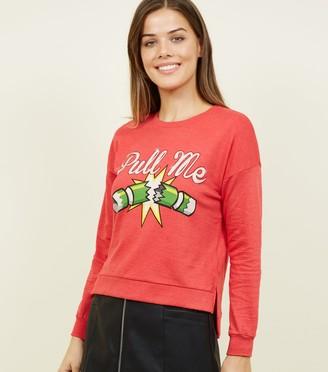 New Look Brave Soul Christmas Cracker Sweatshirt