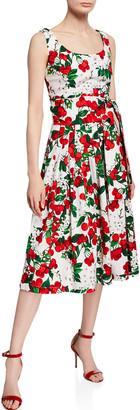 Samantha Sung Florence Cherry Blossom Scoop-Neck Sleeveless Dress
