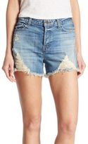 J Brand Gracie High-Rise Distressed Denim Shorts/Breakdown