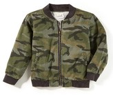 Boy's Peek Camo Bomber Jacket