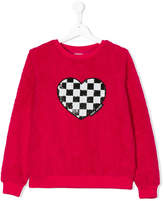 Little Marc Jacobs chequered sequin heart sweater