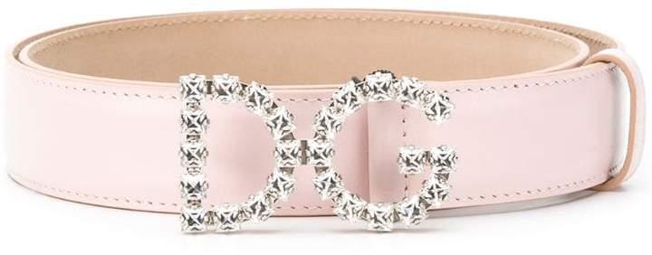 Dolce & Gabbana Crystal Logo Buckle belt