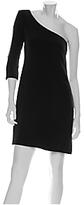 Samantha One Shoulder Zipper Dress