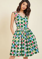 Emily And Fin Vintage-Inspired Vim A-Line Dress in XXL