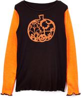 Beary Basics Black & Orange Lacy Pumpkin Tee - Toddler & Girls