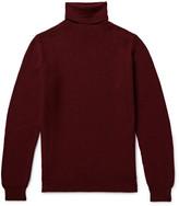 Incotex Popcorn-Stitch Wool Rollneck Sweater
