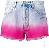 Off-White Off White degrade-effect denim shorts