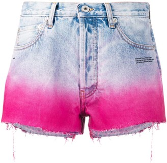 Off-White Degrade-Effect Denim Shorts