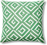 Dransfield and Ross Diamond Basketweave 24x24 Outdoor Pillow