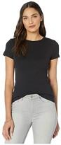 Lilla P 1x1 Rib Short Sleeve Crew Neck T-Shirt (Black) Women's Clothing