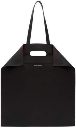 Alexander McQueen Black North South De Manta Shopping Tote