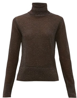 Altuzarra Lexia Roll-neck Lurex Sweater - Womens - Black