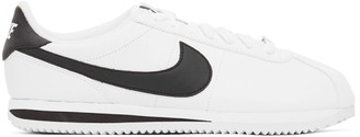 Nike White and Black Cortez Basic Sneakers