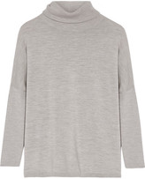 Allude Wool Turtleneck Sweater - Gray