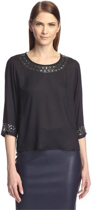 Society New York Women's Embellished High-Low Top