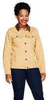 Denim & Co. Stretch Twill Jacket with Faux Leather Collar