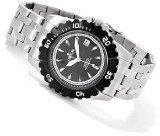 Croton Men's Automatic All Stainless Steel Unidirectional Bezel Stainless Steel Watch CA301183BKBK