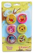 Disney Winnie the pooh erasers - 6 erasers