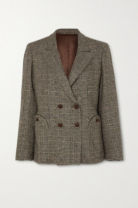 BLAZÉ MILANO Longwood Charmer Double-breasted Checked Wool-blend Blazer - Brown