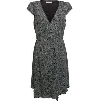 Onfire Womens Short Sleeve Wrap Dress Black/White