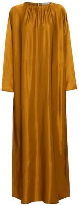 ASCENO Rhodes bamboo satin maxi dress