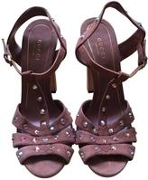 Gucci Pink Suede Sandals